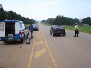 Paying a speeding fine in Swaziland